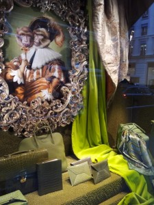 Hermes Faubourg St Honore Paris. Creative Windows. Jan 2013.