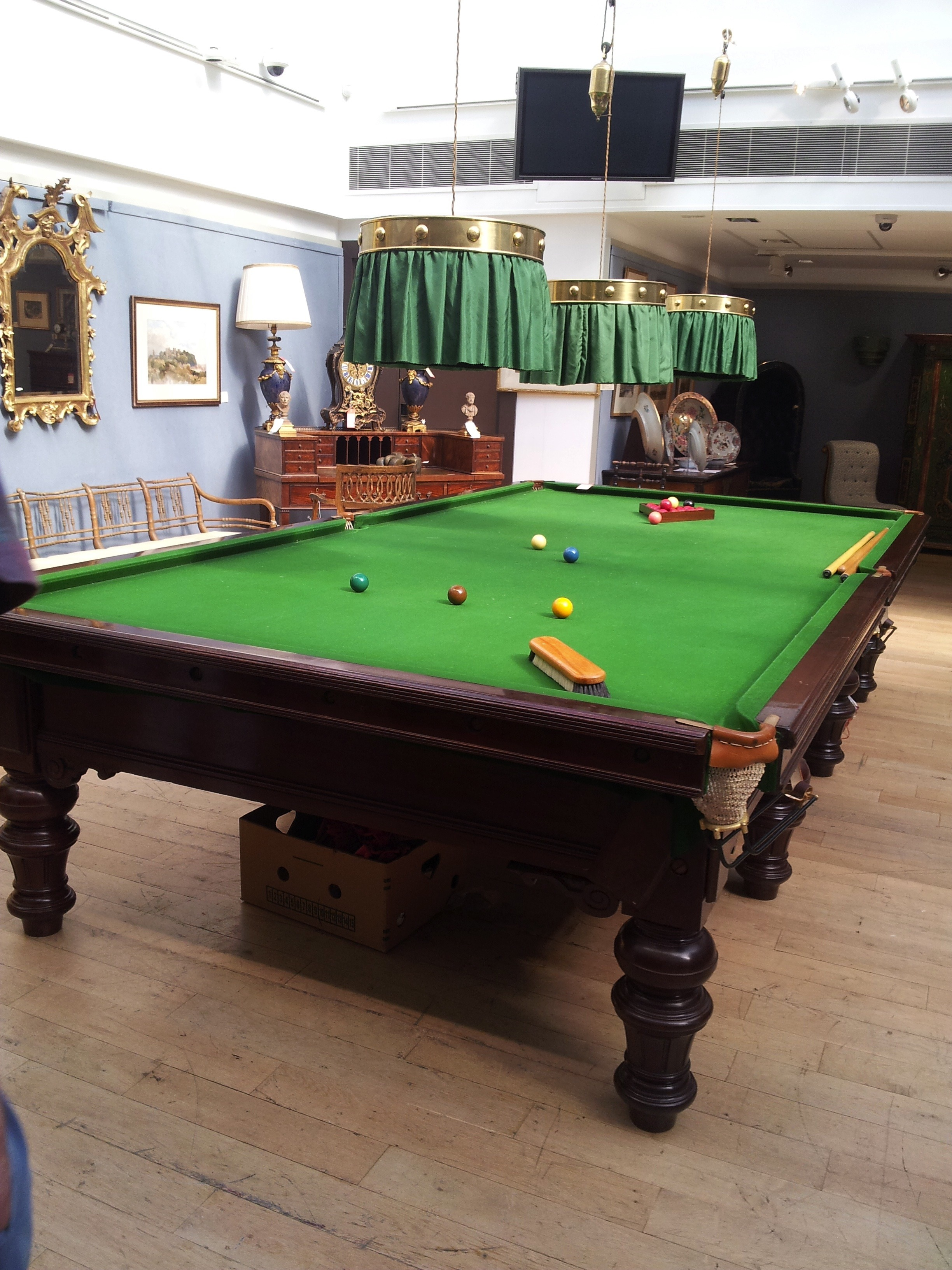 Impressive Billiards Table On View Pre July Auction Christies - Kensington pool table