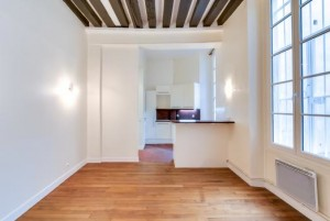 edrooms: Studio Bathrooms: 1 Size: 27 m2 For sale: € 395 000 Agency Fee Included Area: 6th Credible location, steps from Pont Neuf in a 17th Century building, with an original staircase, this studio is perfectly set up and ready to rent. The high ceilings and large window make a charming investment property in the prime part of Paris. Steps away from the Seine.  Further details and photos