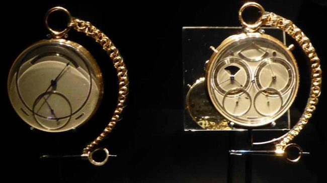 The Second Space Travellers Watch is one of George Daniel's most well-known pieces. Image taken by Frances Spiegel with permission of the V&A, all rights reserved.