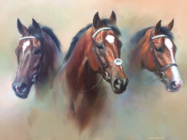 """Frankel Painting To Be Sold For Charity At Tattersalls December Sale A painting by renowned equestrian artist Jacqueline Stanhope called 'Brothers In Arms' is to be sold for Charity on Monday 30th November at the Tattersalls December Sale. The painting, depicting the incomparable FRANKEL alongside his brothers NOBLE MISSION and BULLET TRAIN, both now standing at stud in America, is to be sold in aid of the 'Friends of the Newmarket Day Centre'. The charity, whose President is Julie Cecil, has been established in Newmarket for 34 years and specialises in care for the elderly in Newmarket and the surrounding area. 'Brothers In Arms' by Jacqueline Stanhope 'Brothers In Arms' by Jacqueline Stanhope Chairman of the Charity Nigel Wright said; """"Newmarket Day Centre provides an essential service to the local community and we are delighted to have this opportunity to raise valuable funds for the charity. FRANKEL and his brothers NOBLE MISSION and BULLET TRAIN are all out of the great Juddmonte mare KIND, and were all trained in Newmarket by Sir Henry Cecil and Lady Cecil, who won three Group 1 races with NOBLE MISSION. The Tattersalls December Sale will provide a great stage to sell Jacqueline Stanhope's tribute to Prince Khalid Abdullah's truly extraordinary FRANKEL and his illustrious brothers."""" The painting will be offered immediately prior to lot 1603, NEW ORCHID, the first of the Juddmonte draft of broodmares selling on Monday 30th November, and can be viewed in the Juddmonte Tent at Park Paddocks prior to the sale. For further information please contact Nigel Wright, Tel: 07802 699145. Click here to go to the Tattersalls website Next Sale November 24th - 28th, 2015 December Foals Nov. 30th - Dec. 3rd, 2015 December Mare Sale February 4th - 5th, 2016 February Sale Follow Tattersalls1766 on Twitter Find Tattersalls on Facebook CONTACT DETAILS Jimmy George Marketing Director T +44 (0) 1638 665931 F +44 (0) 1638 660850 jimmy.george@tattersalls.com Jason Singh Marketing Man"""