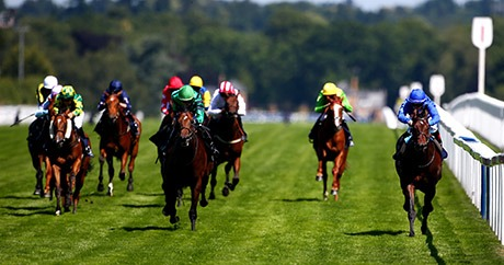 ASCOT, ENGLAND - JULY 10: James McDonald rides Rouleau (R) to win The Commercial Property Law By Darbys Solicitors Nursery Handicap Stakes at Ascot racecourse on July 10, 2015 in Ascot, England. (Photo by Charlie Crowhurst/Getty Images) Competitive racing is at the heart of the Friday of the King George VI Weekend, with a six-race card featuring the John Guest Brown Jack Stakes that commemorates the racing legend who won at no less than seven different Royal Meetings.