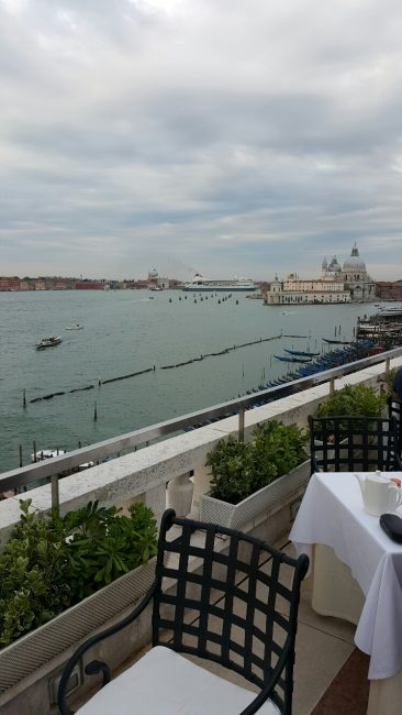 Venice view from Terrace at the Danieli