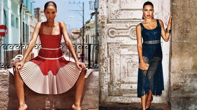 6d7916bc64 Two  angels  lit up Havana s streets with their presence in smoking  Cuban-inspired photo-shoots. Models Adriana Lima